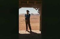 The Searchers image of John Wayne from DVD